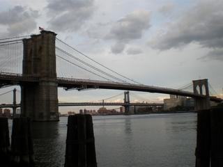 ブルックリン・ブリッジとマンハッタン・ブリッジ.JPG